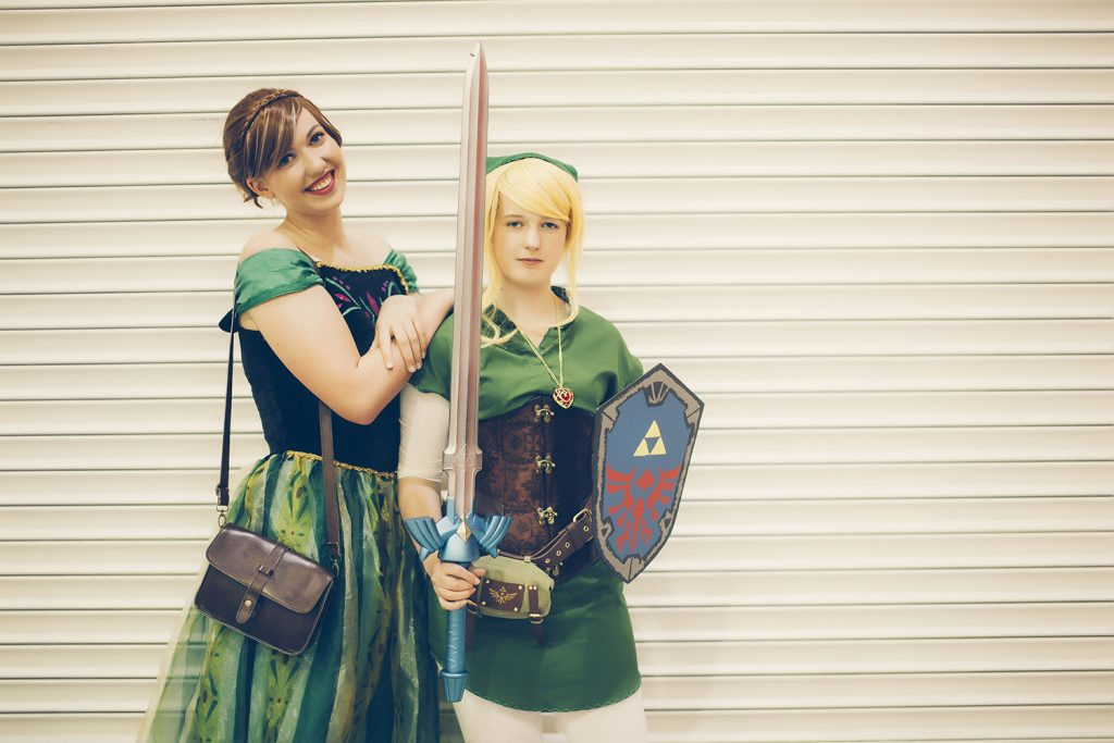 Link from Zelda and Anna from Frozen